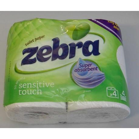 Тоалетна хартия ZEBRA - 4 рула в пакет